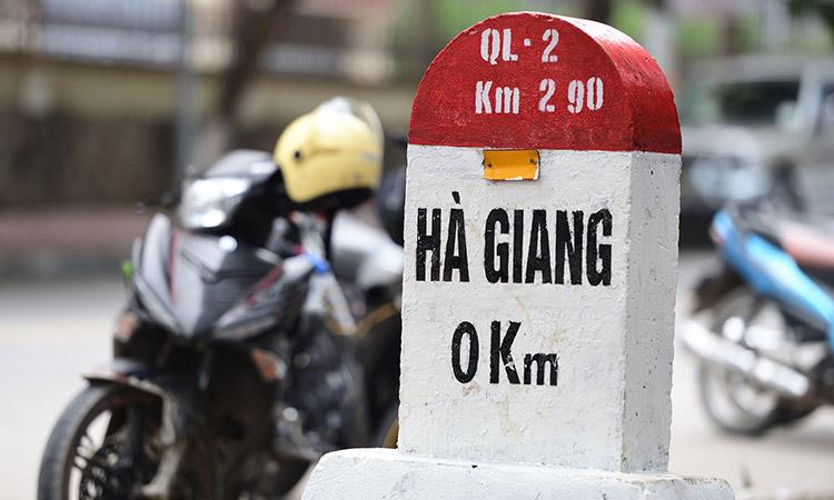 Cột mốc số 0 tại thành phố Hà Giang
