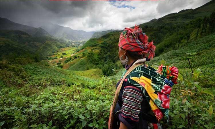Đồng bào dân tộc Hmong tại bản Cát Cát Sapa