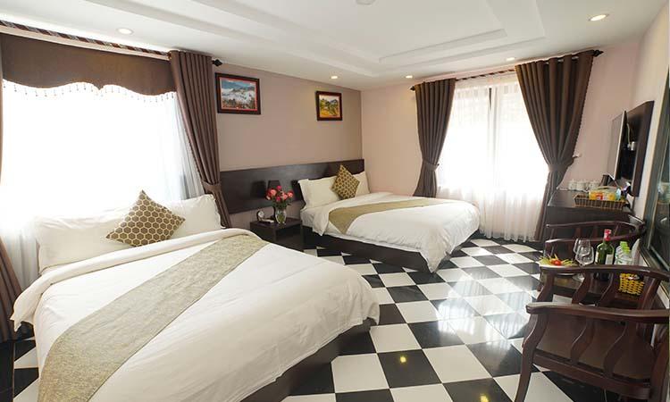 Phòng lưu trú tại một khách sạn 3 sao ở trung tâm thị trấn Sapa
