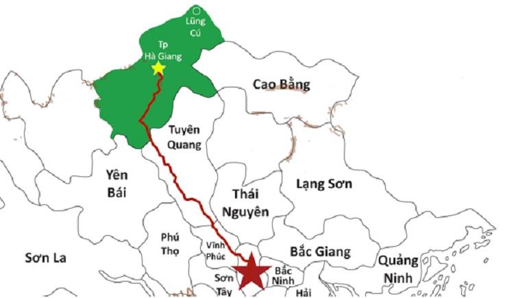Bản đồ vị trí du lịch Hà Giang