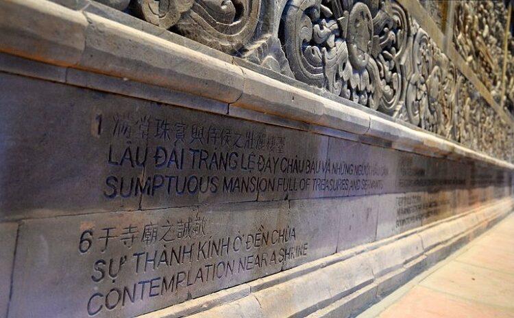 Bá thứ tiếng ký hiệu trên tranh đá ở chùa Tam Chúc