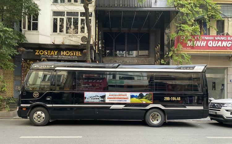 Xe Fuso Limousine Bus đi chùa Tam Chúc